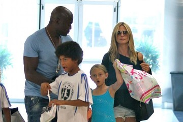 Henry Samuel Heidi Klum Takes Her Kids Shopping After Soccer Practice