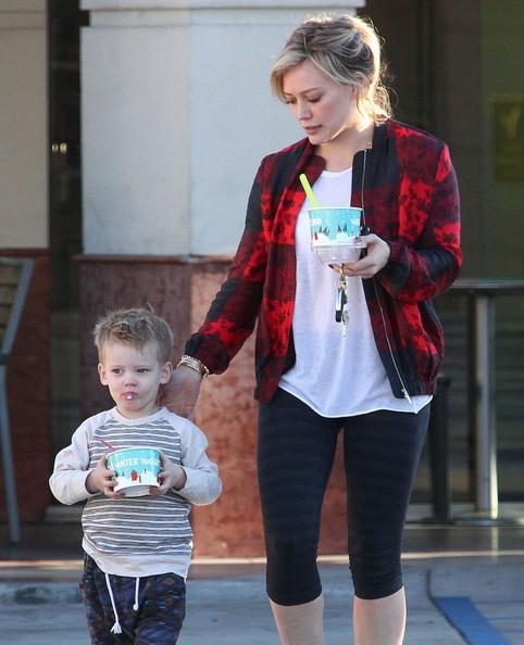 Hilary Duff Takes Luca To Get Some Fro-Yo