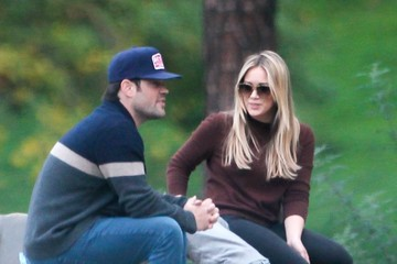 Hilary Duff Mike Comrie Hilary Duff Takes Luca to the Park