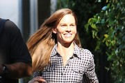 Hilary Swank Takes Care of Business