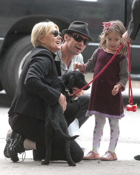 Hugh Jackman And Family Out In New York City (Deborra-Lee Furness)