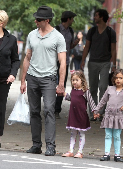 Hugh Jackman And Family Out In New York City (Ava Jackman)
