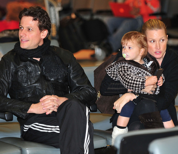 ioan gruffudd amp family waiting for flight at lax airport
