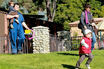 Samuel Black Jack Black And Family Spending The Day At The Park