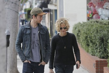 Jack Quaid Meg Ryan Out With Her Son Jack Quaid in Brentwood