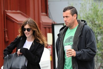 Jackie Sandler Adam Sandler and Wife Jackie Go Out Shopping in Brentwood