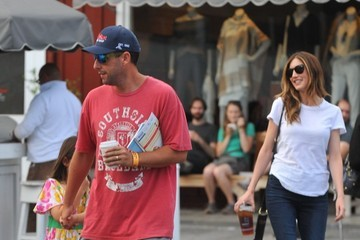 Jackie Sandler Adam Sandler and Family Go Shopping at the Brentwood Country Mart