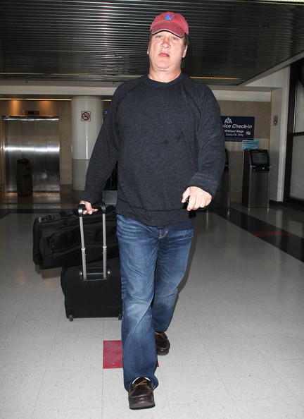 James Belushi Touches Down At LAX