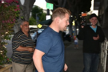 James Corden Celebrities Dine Out at Madeo Restaurant