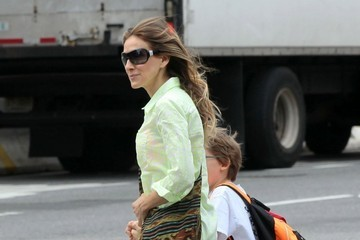James Wilke Broderick Sarah Jessica Parker Walks Her Kids to School