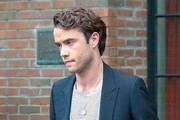Jamie Blackley Out with a Friend