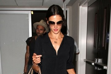 Jamie Mazur Alessandra Ambrosio Departing On A Flight At LAX