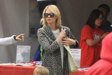 January Jones January Jones Takes Xander To A Book Fair