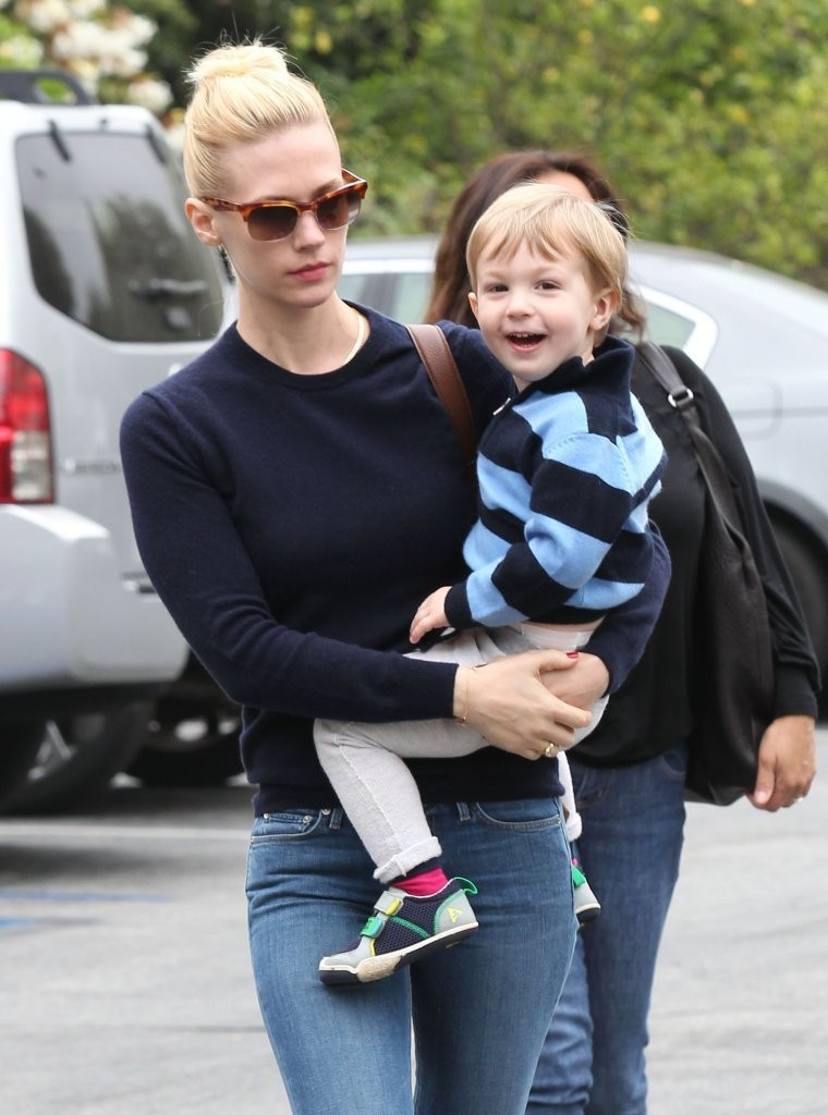 Xander Jones in January Jones Takes Her Son To Lunch - Zimbio