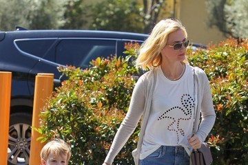 January Jones January Jones Out and About with Xander