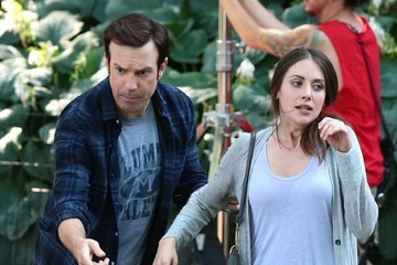 Jason Sudeikis Alison Brie 'Sleeping with Other People' Films in NYC