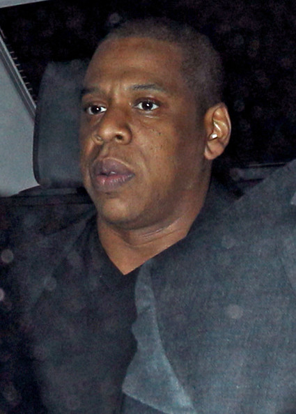 American Rappers Jay-Z and Kanye West pictured leaving Zuma Restaurant in London, England, UK on May 16, 2012. Kanye was joined by girlfriend Kim Kardashian