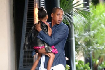 Jay Z Jay Z and Beyonce Take Blue Ivy Shopping