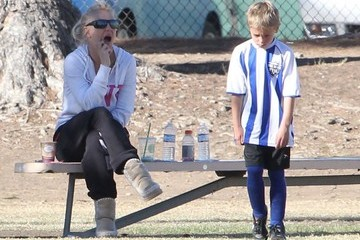 Jayden Federline Britney Spears Watching Jayden Play Soccer