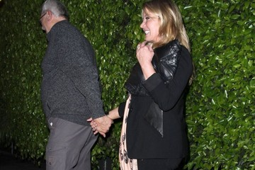 Jeanie Buss Celebs Dine Out at Giorgio Baldi
