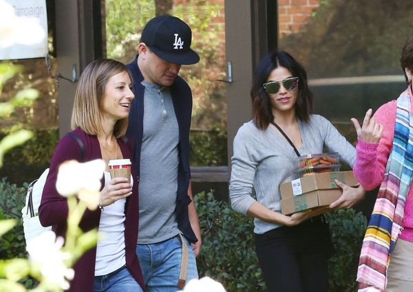 Channing Tatum & Jenna Dewan At A Thanksgiving Party In Studio City