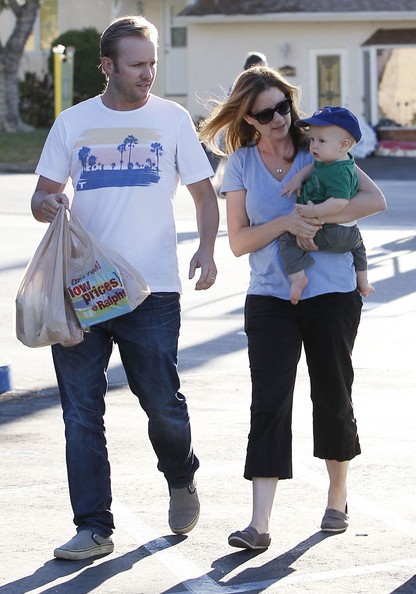 Jenna Fischer with her beau Lee Kirk and son