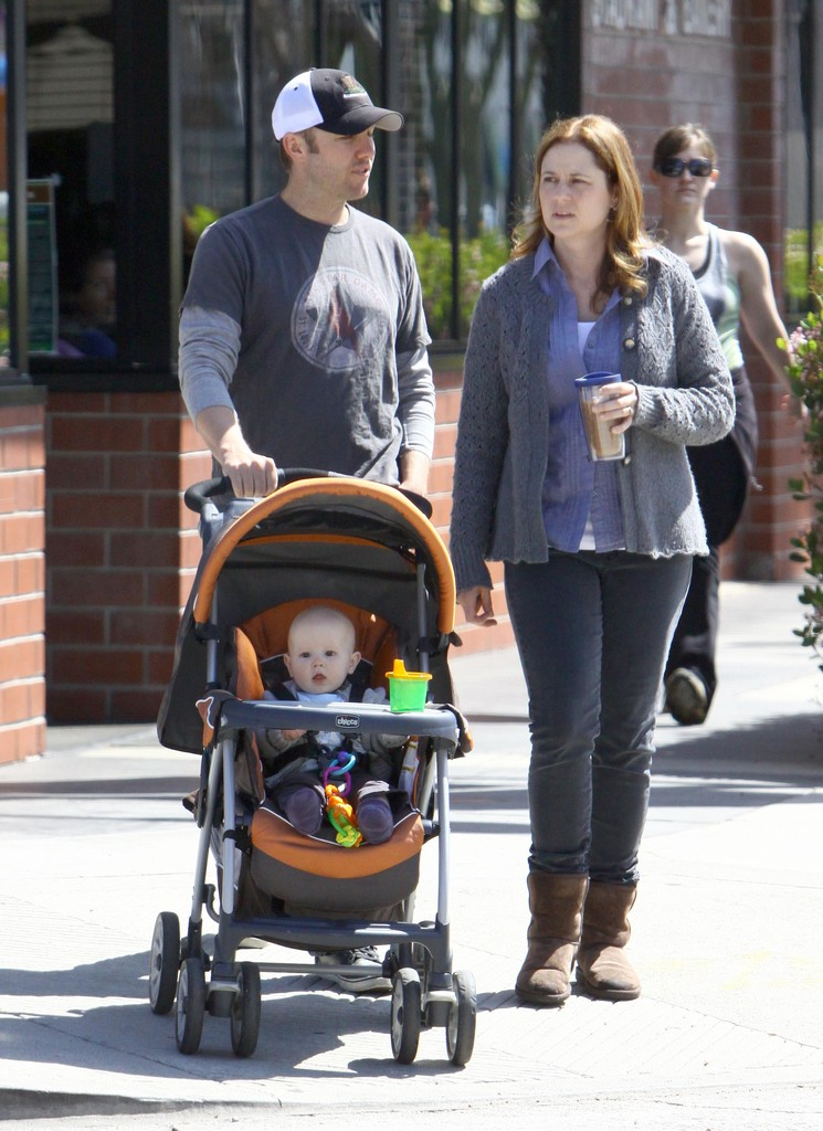 Photo of Jenna Fischer & her Son  Weston Lee Kirk
