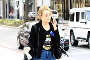 Soap opera actress Jennifer Finnigan was sporting some throw-back fashion in a Guns N' Roses t-shirt during a shopping trip in Beverly Hills, California on February 2, 2017.