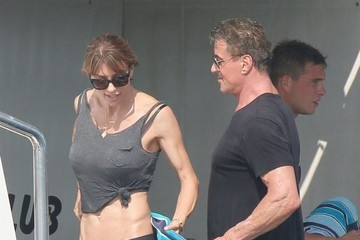 Jennifer Flavin Sylvester Stallone & Family Vacation In France