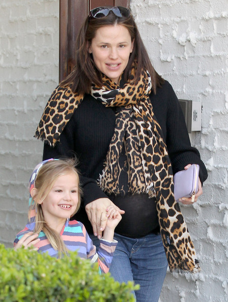 Jennifer Garner Very pregnant actress Jennifer Garner takes her daughter Violet to McMillan hair salon on February 24, 2012 in Beverly Hills, CA.