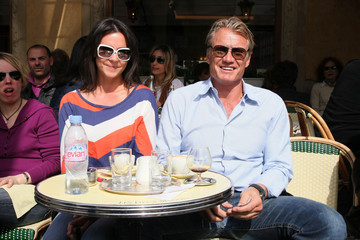 Jenny Sandersson Dolph Lundgren And Girlfriend Enjoy Lunch In Paris