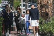 Actress and busy mom Jessica Alba is spotted out with her daughters Honor and Haven and also her husband Cash on November 6, 2016.
