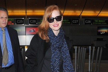 Jessica Chastain Jessica Chastain Departing On A Flight At LAX