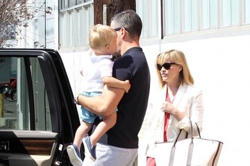 Jim Toth Reese Witherspoon & Family Leaving Church On Easter