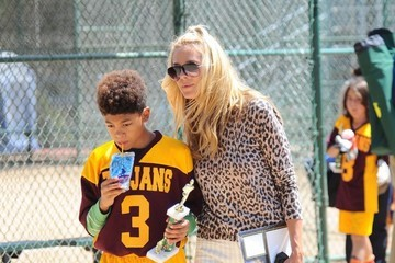 Johan Samuel Heidi Klum Watches Her Son's Football Game In Brentwood