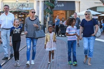 Johan Samuel Heidi Klum Shops at The Grove with Her Children