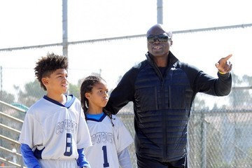 Johan Samuel Seal Is Seen Out With His Two Boys at Their Football Game