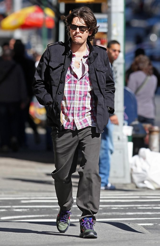 john mayer out for a walk in new york city zimbio. Black Bedroom Furniture Sets. Home Design Ideas