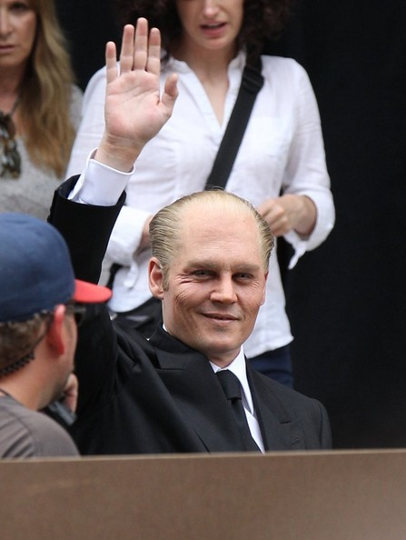 Scenes from the 'Black Mass' Set