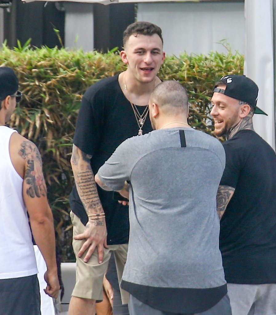 johnny manziel amp nicky diamonds attend a pool party in