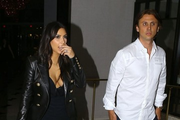 Jonathan Cheban Kim Kardashian and Jonathan Cheban Get Dinner