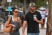 Jordana Brewster and Her Family Take a Trip to Starbucks