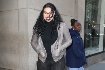 Jordin Sparks Celebrities At 'The Today Show' In NYC