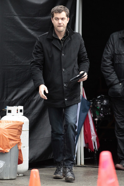 "Actor Joshua Jackson is seen playing with his iPad on the set of ""Fringe"" in Vancouver, Canada."