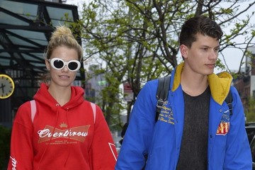 Julian Herrera Hailey Clauson and Julian Herrera Head Out in Downtown NYC