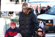 'Modern Family' actress Julie Bowen takes her sons Oliver, John and Gustav to the Farmers Market in Studio City, California on January 13, 2013.