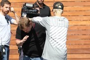 Singer Justin Bieber is spotted filming scenes for the 'The Late Late Show with James Corden' in Los Angeles, California on October 15, 2015.