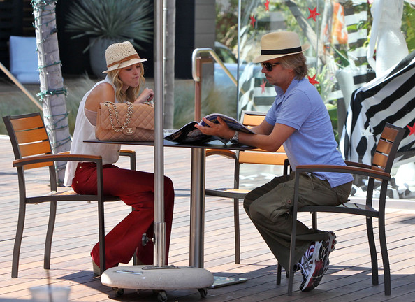 Comedian David Spade Enjoys Lunch With A Beautiful Blonde []