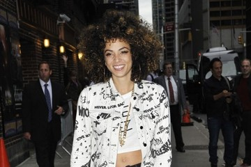 Kandace Springs Celebs Visit the 'Late Show with David Letterman'