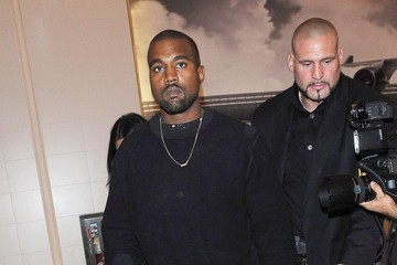 Kanye West Kanye West & Kim Kardashian Catch A Flight At LAX